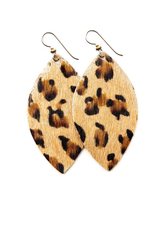Leopard Grande Leather Earrings