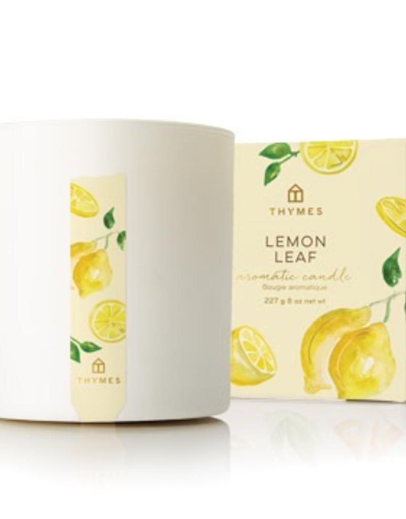 Thymes Lemon Leaf Poured Candle - 8 oz