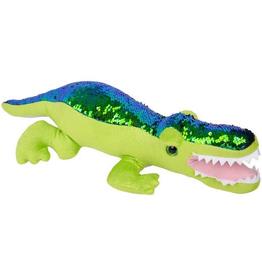 """Sequin Plush Alligator - 19"""""""