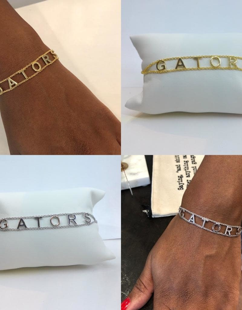Gators Chain Bracelet - Gold