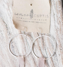 Leslie Curtis Wynne Cream Macrame Feathers Earrings