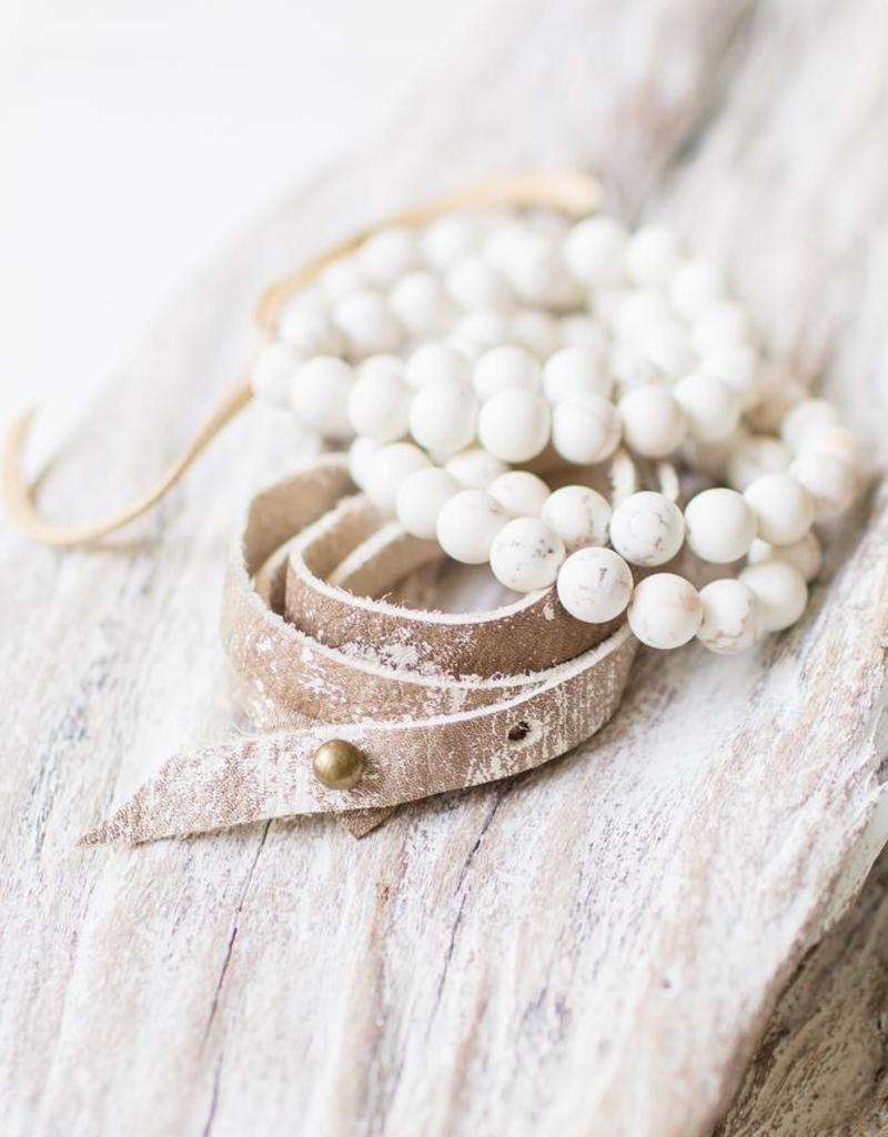 Leslie Curtis Elle Stretchy Cream Bracelets - Set of 3