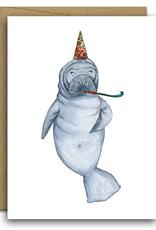 Manatee Birthday Card
