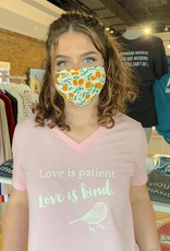 Love Is Patient V-Neck T-Shirt - Pink - X-Large