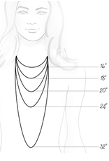 Dune Jewelry Marina Necklace - Gradient Crescent Beach & Turquoise