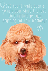 Fur OMG Birthday Card