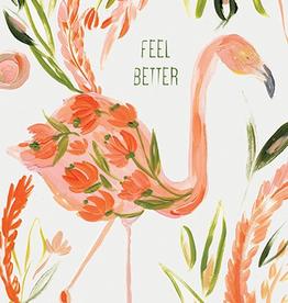 Calaisio Flamingo Get Well Card