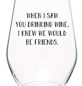 Wine friends Stemless Wine Glass