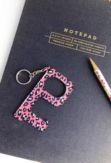 Hands-Free Keychain - Hot Pink Leopard