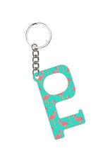 Hands-Free Keychain - Tickle Pink Flamingo