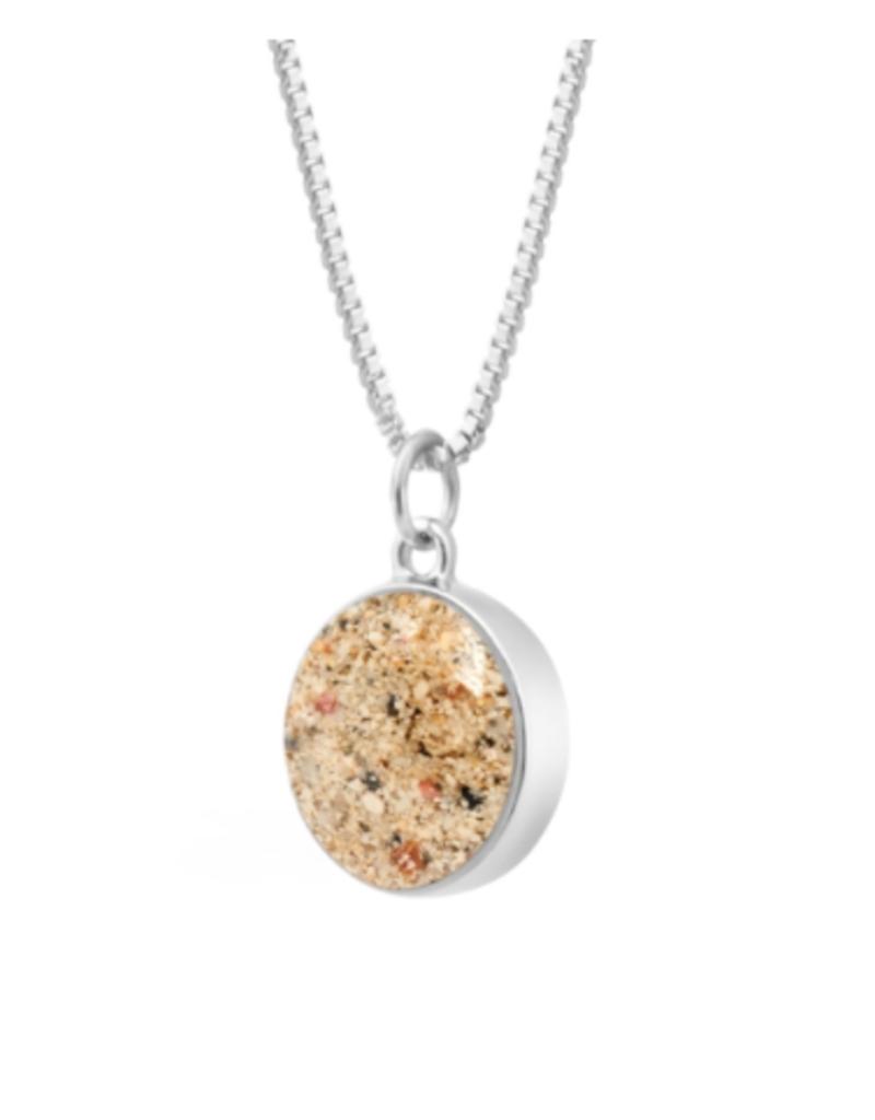 Dune Jewelry Delicate Sandglobe Necklace - Crescent Beach