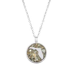 Dune Jewelry Florida Circle Necklace - Crescent Beach