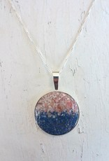 Dune Jewelry Marina Necklace - Gradient -  Shells from Florida & Lapis
