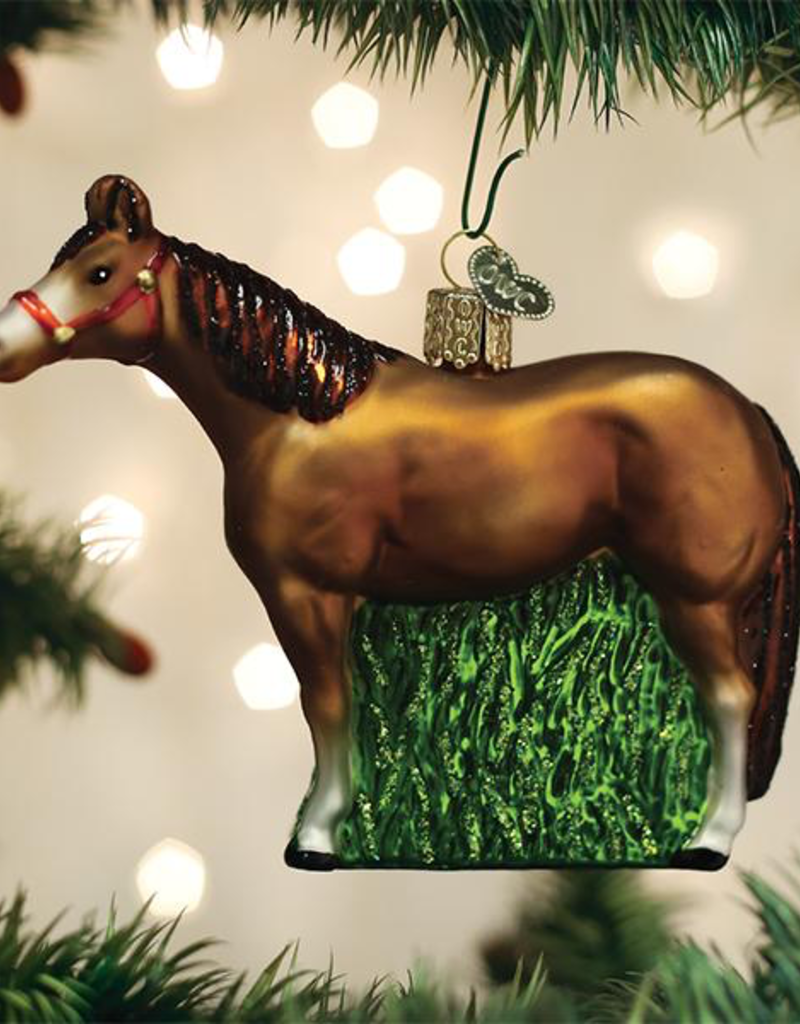 Old World Christmas Quarter Horse Ornament