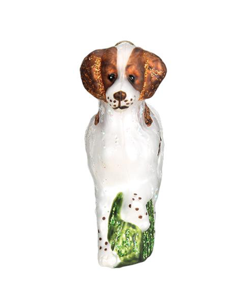 Old World Christmas Brittany Spaniel Ornament