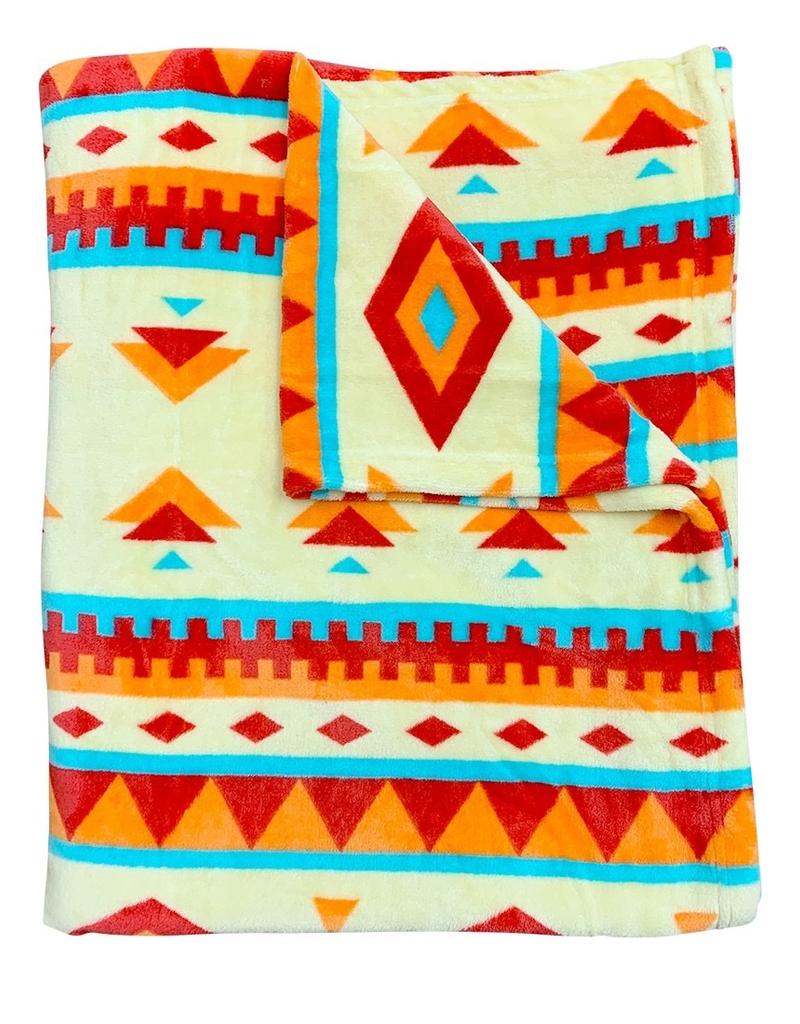 Native Stripe Print Blanket