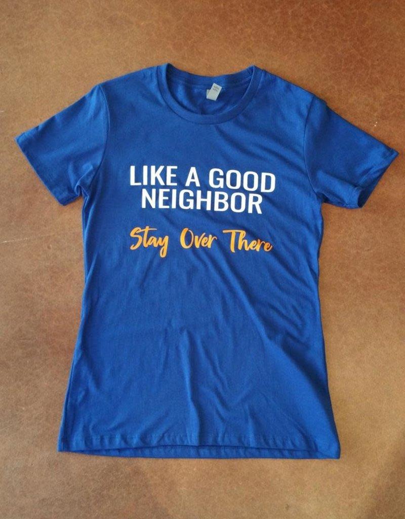 Good Neighbor Gator Royal Blue Boyfriend T-Shirt - Small