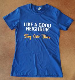 Good Neighbor Gator Royal Blue Boyfriend T-Shirt - Medium