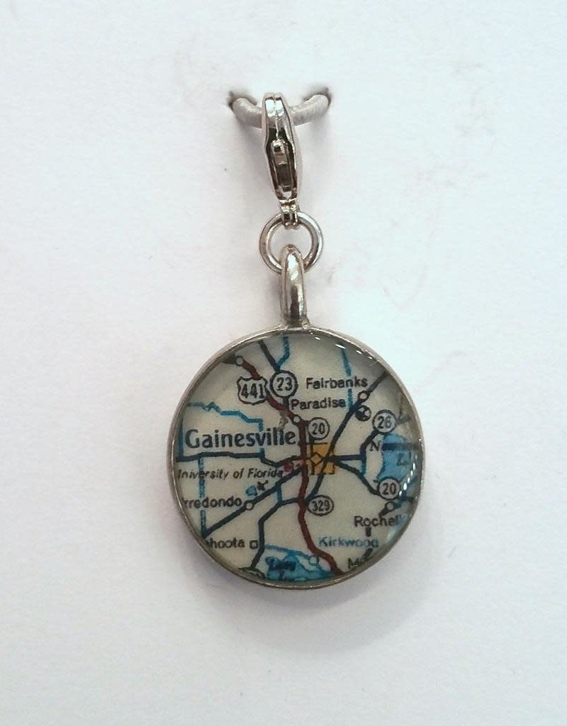 Map Charm - Gainesville Florida Road Map