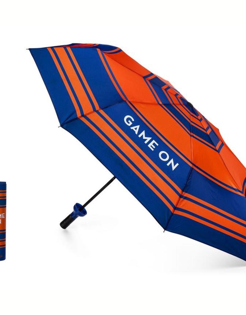 Vinrella Game On Blue/Orange Bottle Umbrella