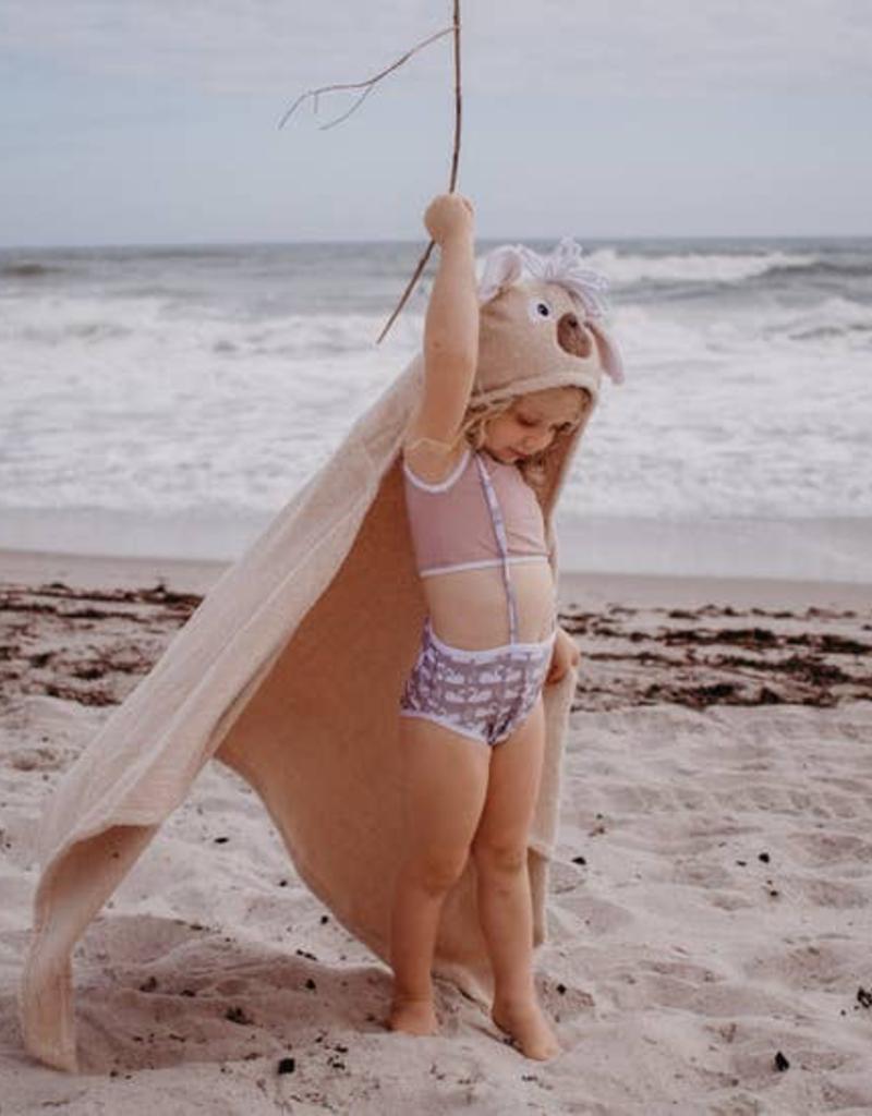 Llama Hooded Towel for children