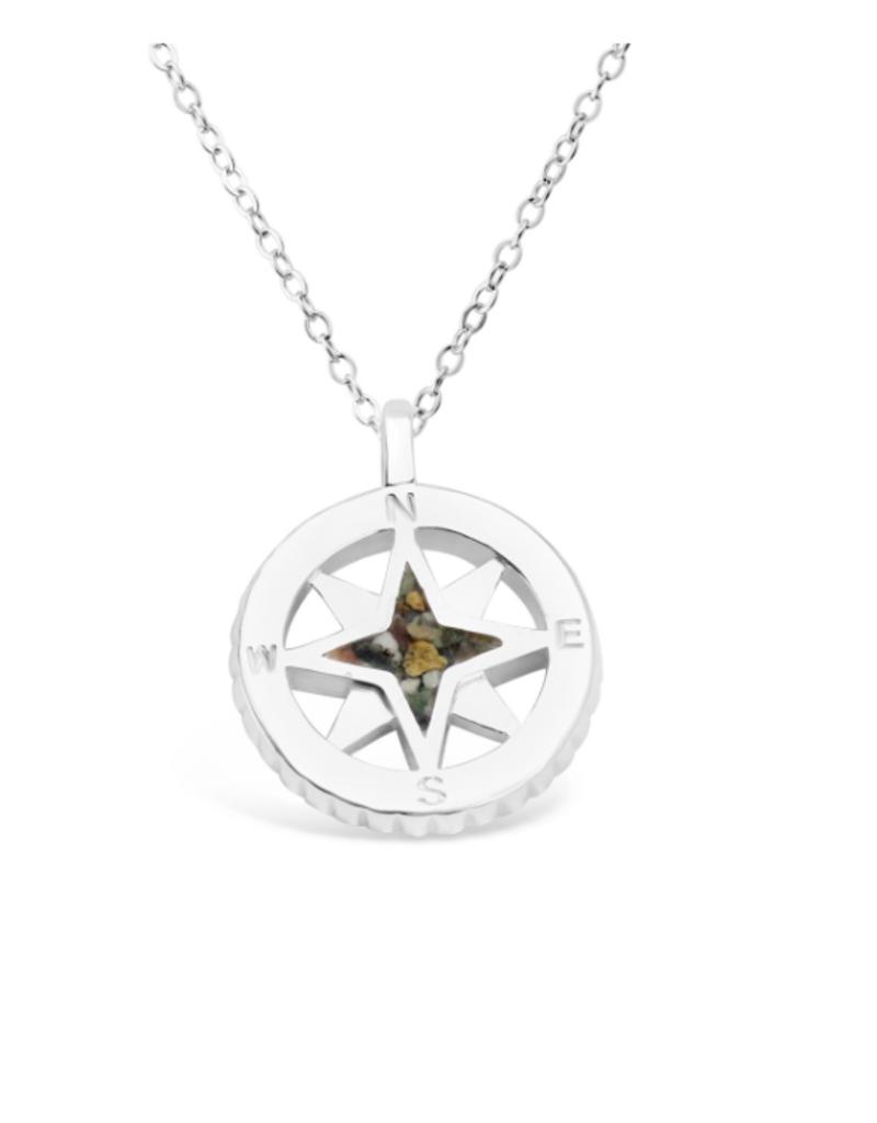 Dune Jewelry Compass Necklace - Crescent Beach