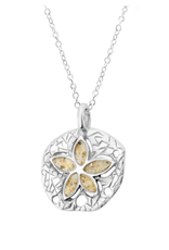 Dune Jewelry Natural Petite Sand Dollar Necklace - Crescent Beach