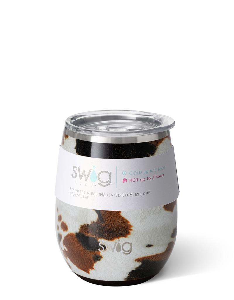 Swig Swig 14oz Stemless Wine Cup - Hayride