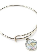 Map Expandable Bangle - Green Gainesville Florida Map
