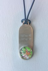 Map Drop Necklace - Green Gainesville Florida Map