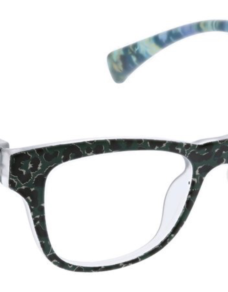 Peepers Orchid Island Reader - Tan/Leopard Floral