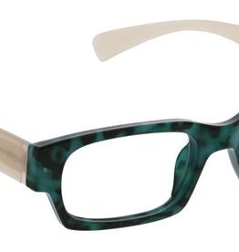 Peepers Ivy Reader - Green Tortoise/Tan