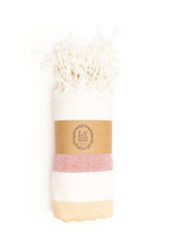 Alexandria Peshtemal Pure Cotton Beach Towel - Orange