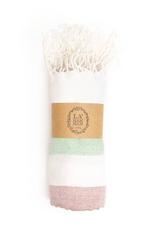 Alexandria Peshtemal Pure Cotton Beach Towel - Maroon