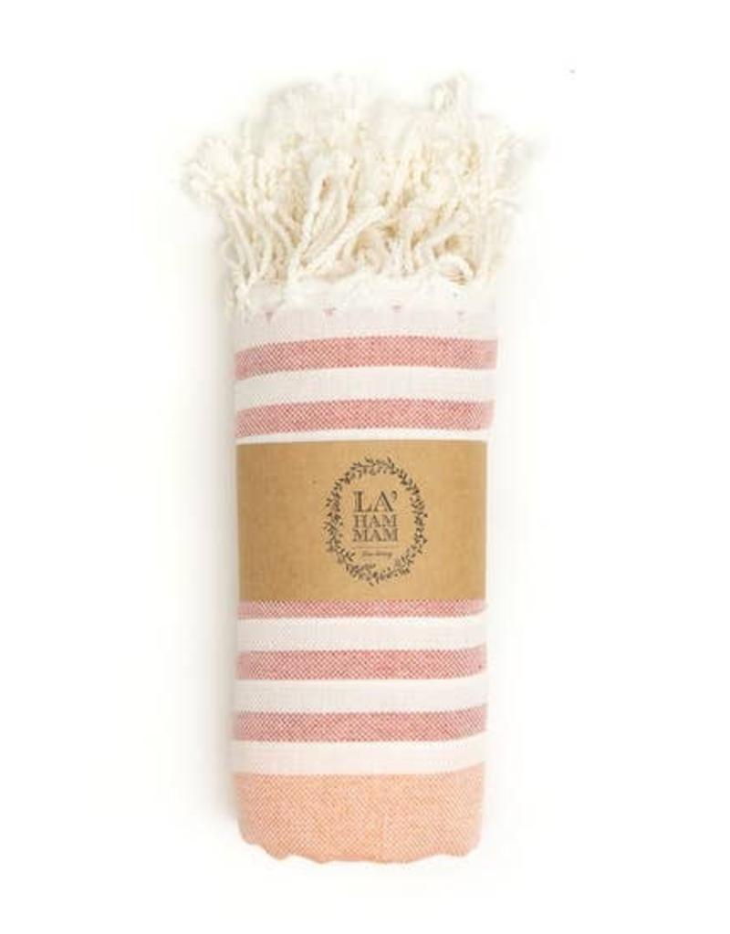 Damascus Peshtemal Pure Cotton Beach Towel - Rose