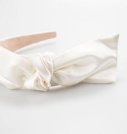 Scarlett Bow Headband - Ivory