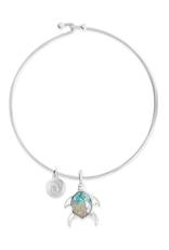 Dune Beach Bangle - Turtle - Gradient  Turquoise/Siesta Key
