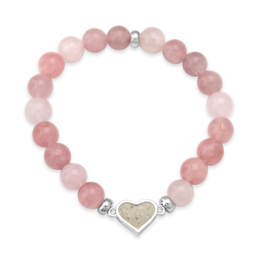Dune Jewelry Heart Beaded Bracelet - Rose Quartz - The Florida Keys