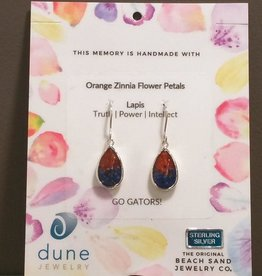 Dune Teardrop Earrings - Gradient - Zinnia & Lapis