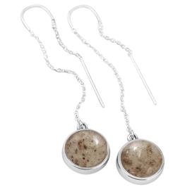 Dune Sandglobe Earrings - Long - Zinnia & Lapis