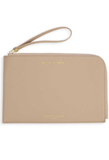 Katie Loxton Secret Message Pouch - One In A Million - Shine Bright Like The Star You Are - Taupe