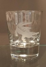 Alligator Double Old Fashion Glass - Single