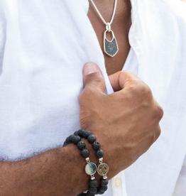 Dune Jewelry Men's Beaded Bracelet - Tiger Eye - Clearwater Beach