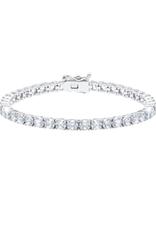 """Crislu Classic Large Round Brilliant Tennis Bracelet - Platinum Finish - 10.30 cttw - 7.5"""""""