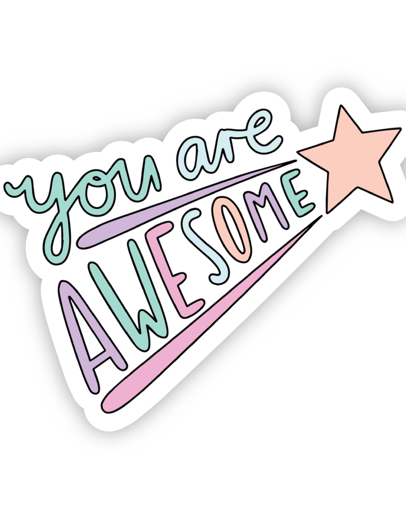 You Are Awesome Shooting Star Sticker