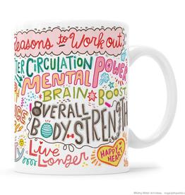 Reasons To Work Out Manifesto Mug