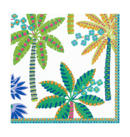 Paradise Palms Paper Luncheon Napkins in White - 20 Per Package