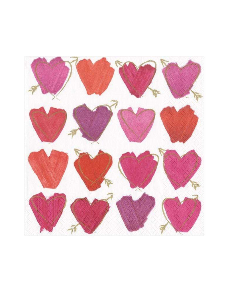 Hearts and Arrows Paper Cocktail Napkins - 20 Per Package