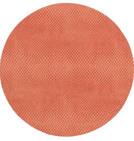 Coral Snakeskin Felt-Backed Placemat in Coral - 1 Each
