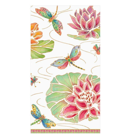 Jeweled Pond Paper Guest Towel Napkins in Ivory - 15 Per Package